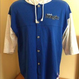 Vintage Orlando Magic Hooded Shirt Sz M